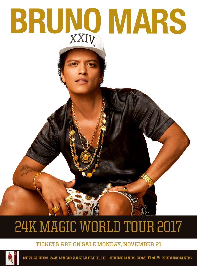 Bruno Mars Tour England