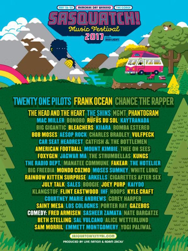 Sasquatch-line-up
