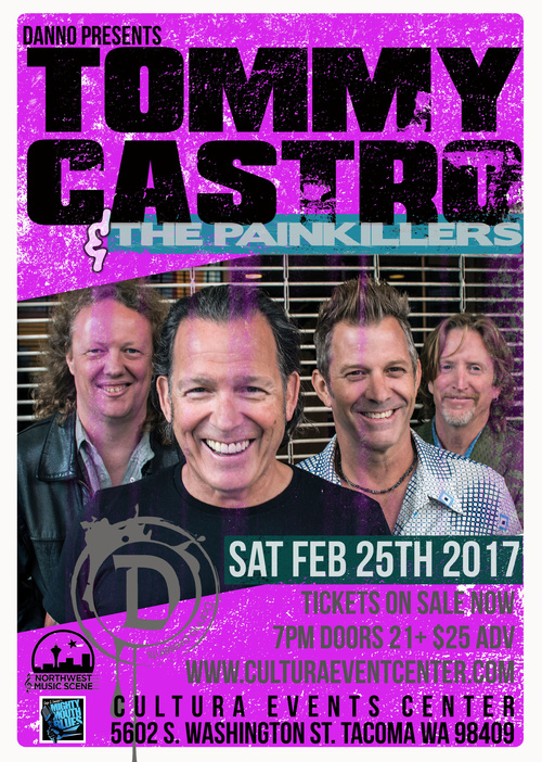 Tommy Castro and The Painkillers in Tacoma @ Cultura Event Center