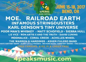 4 Peaks Music Festival Announces 2017 Initial Lineup @ Stevenson Ranch | Bend | Oregon | United States
