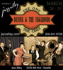Davina and The Vagabonds at Jazz Alley @ Dimitiriou's Jazz Alley | Seattle | Washington | United States