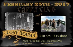 Lost Dogma with Jamie Nova Sky at Capps Club February 25 @ Capps Club | Kenmore | Washington | United States