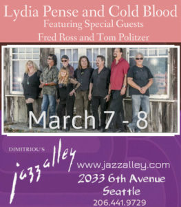 Lydia Pense and Cold Blood featuring Special Guests Fred Ross and Tom Politzer at Jazz Alley @ Dimitriou's Jazz Alley | Seattle | Washington | United States