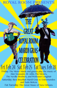 The Great Royal Room Mardi Gras Celebration: 3 Nights! @ The Royal Room | Seattle | Washington | United States