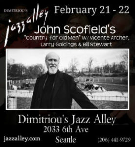 "John Scofield's ""Country for Old Men"" w/ Vicente Archer, Larry Goldings & Bill Stewart @ Dimitirou's Jazz Alley 