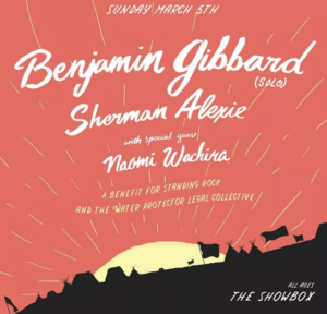 Benjamin Gibbard (solo) with Sherman Alexie and Naomi Wachira @ The Showbox