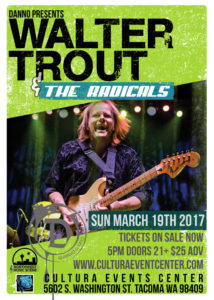 Walter Trout to play Cultura Events Center in Tacoma on March 19 @ Cultura Event Center | Tacoma | Washington | United States
