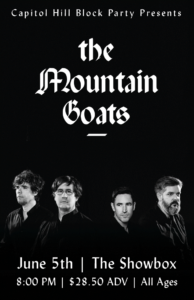 The Mountain Goats at the Showbox in Seattle @ The Showbox | Seattle | Washington | United States