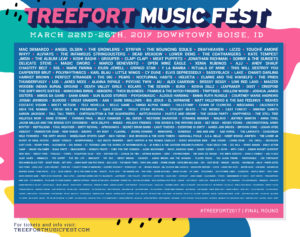 Treefort Music Fest 2017 — Featuring Angel Olsen, Mac DeMarco, Deafheaven, and Many More @ Downtown Boise, ID