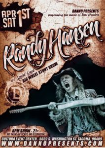 Randy Hansen and Big Wheel Stunt Show to play Cultura Center April 1 @ Cultura Event Center | Tacoma | Washington | United States