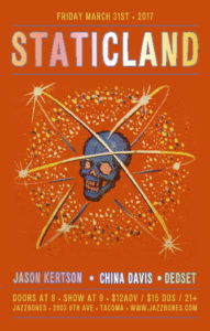 Jeff Angell's Staticland at Jazzbones in Tacoma @ Jazzbones | Tacoma | Washington | United States