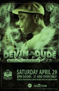 "Devin the Dude ""Acoustic Levitation Tour"" in Seattle @ The Crocodile 