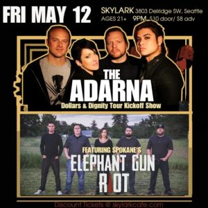 The Adarna Tour Kick Off Event featuring Elephant Gun Riot @ Skylark West Seattle | Seattle | Washington | United States