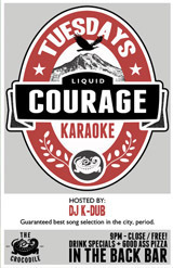 LIQUID COURAGE KARAOKE ON JULY 10 @ The Crocodile | Seattle | Washington | United States