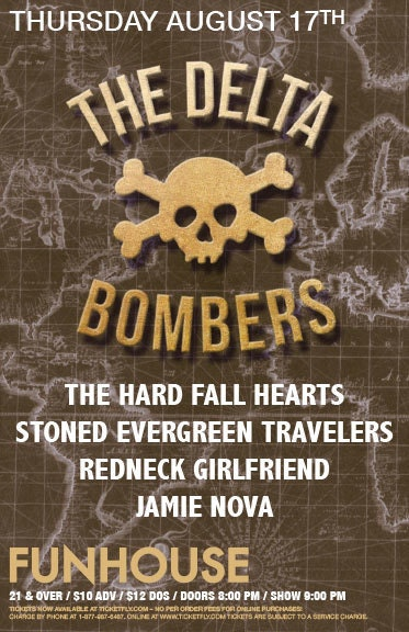The Hard Fall Hearts, Stoned Evergreen Travelers, Redneck Girlfriend, Jamie Nova On Aug 17 @ El Corazon | Seattle | Washington | United States