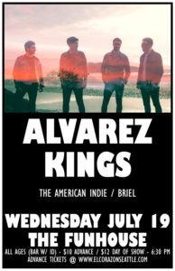 The American Indie, Briel, Jason Sees Band On July 19 @ El Corazon | Seattle | Washington | United States
