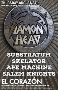 Substratum, Skelator, Ape Machine, Salem Knights On Aug 24 @ El Corazon | Seattle | Washington | United States