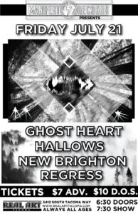 GHOST HEART, HALLOWS, New Brighton, Regress On July 21