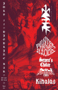 One Master, Winter In The Blood, Serpents Chalice, Kömmand Kihalas On July 22 @ Highline | Seattle | Washington | United States