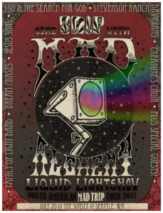 MAD ALCHEMY LIQUID LIGHTSHOW @ THE SUNSET LSD & The Search For God, The Stevenson Ranch Davidians, Jesus Sons, Dream Phases, Family of Light Band, Creatures Choir On JULY 20 @ Sunset Tavern  | Seattle | Washington | United States