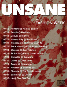 Unsane, Fashion Week, Glose, Cages, On July 16 @ Highline | Seattle | Washington | United States