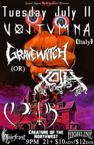 Voltumna, Xoth, Noceur, GraveWitch @ Highline | Seattle | Washington | United States