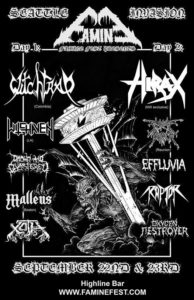 Famine Fest Day 1: Witchtrap, Witchaven, Drawn and Quartered, Malleus, Xoth On September 22 @ Highline | Seattle | Washington | United States