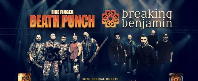 Five Finger Death Punch and Breaking Benjamin to play White River Amphitheatre July 16