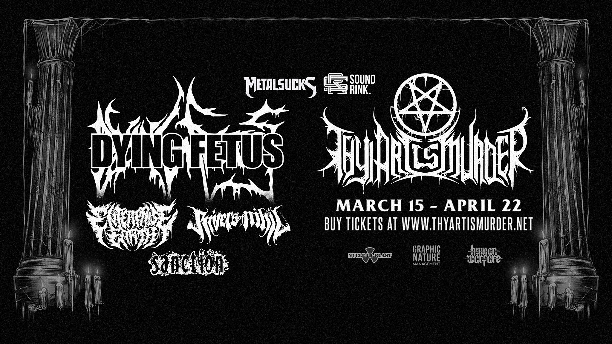 Thy Art Is Murder To Play Studio Seven On March 28 W Dying Fetus