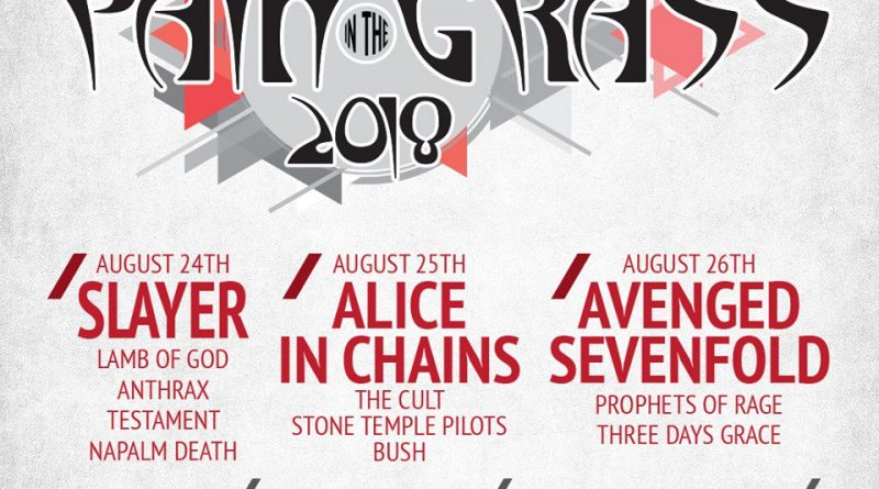 kisw announces massive pain in the grass lineup featuring alice in chains the cult slayer and. Black Bedroom Furniture Sets. Home Design Ideas