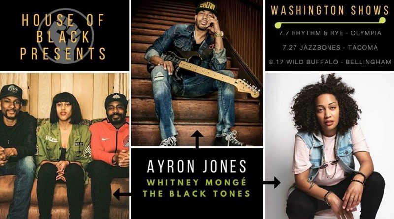 Ayron Jones, The Black Tones and Whitney Mongé to team up to play House of Black shows this summer